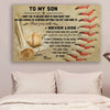 (cv472) Baseball Poster - Mom son - never lose