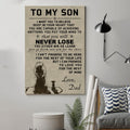 (cv871) LHD Lion poster - Dad to Son - never lose
