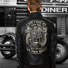 (LJ1) BIKER MAN LEATHER JACKET