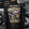 (LJ3) BIKER MAN LEATHER JACKET - I AIN'T PERFECT