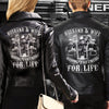 (LJ4) BIKER LEATHER JACKET - HUSBAND AND WIFE