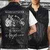 (LV5) LHD BIKER MAN LEATHER VEST - NEVER GO FASTER