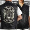 (LV4) LHD BIKER MAN LEATHER VEST - I DON'T RIDE MY OWN BIKE