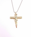 Soldier Bullet Cross Necklace