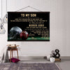 (CV717)AMERICAN FOOTBALL CANVAS WITH THE WOOD FRAME - MOM TO SON