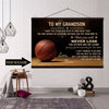 (CT208) BASKETBALL canvas with the wood frame - Custom to my grandson