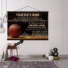 (CT219) Basketball canvas with the wood frame - Never lose custom