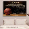 (cv453) Basketball Poster - mom to son - never lose
