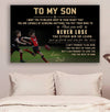 (cv810) LHD Australia football poster - Dad to Son - never lose