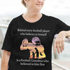 LHD American football t-shirt - Behind every football player who believes in himself