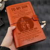 (JD25) FIREFIGHTER VINTAGE JOURNAL - DAD TO SON - YOU WILL NEVER LOSE