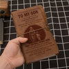 (JT7) FIREFIGHTER VINTAGE JOURNAL - DAD TO SON - YOU WILL NEVER LOSE
