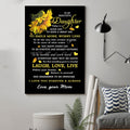 (cv935) VA sunflower Poster - Mom to daughter - today is a good day vs1