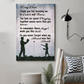 (cv813) LHD baseball poster - to dad - thank you for teaching me
