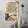 (D195) LHD Firefighter Poster - Mom to son - I closed my eyes