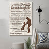 (D98) Family poster - Grandpa to granddaughter - Always remember