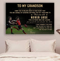 (cv829) LHD Australia football poster - Nana to grandson - never lose