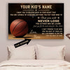 (CT219)Basketball Poster - to your kid - custom