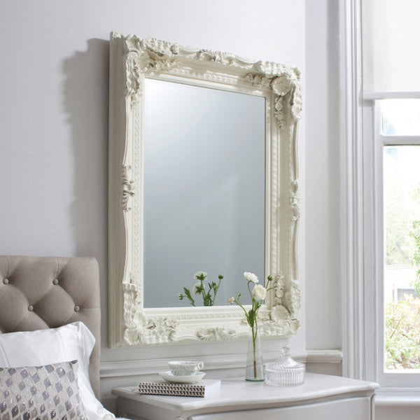 Carved Louis Cream Mirror