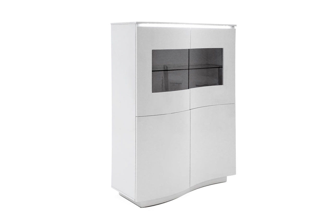 Lazzaro Display Unit - White Gloss with LED (Nett)