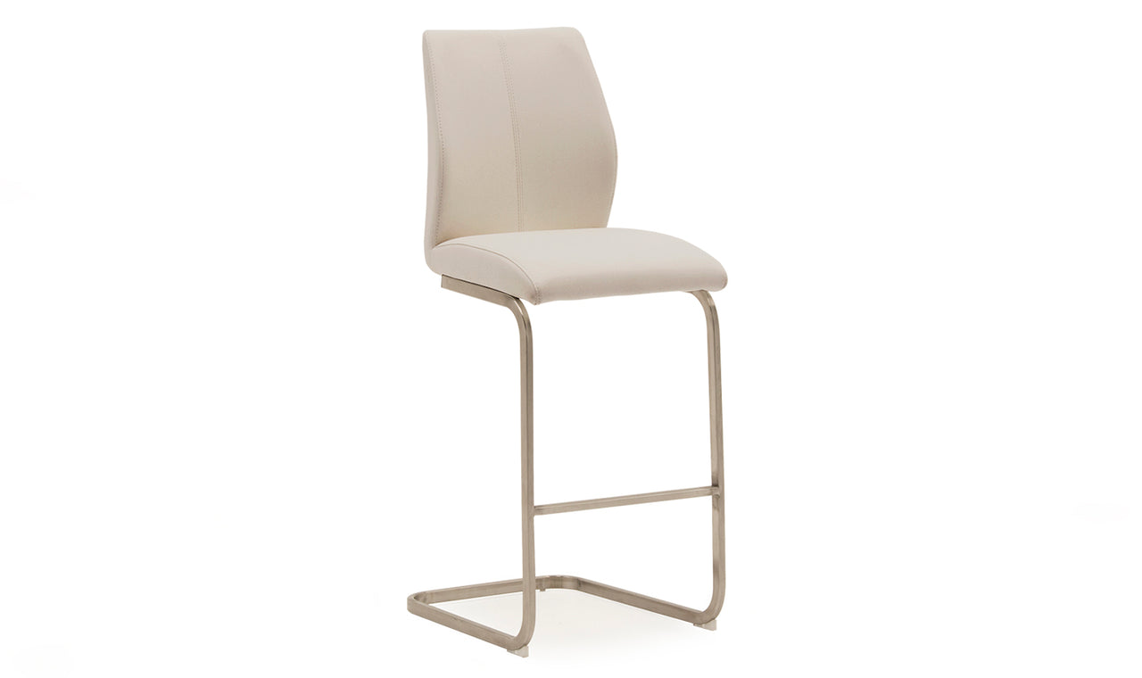 Irma Bar Chair - Brushed Steel Taupe (2/Box)
