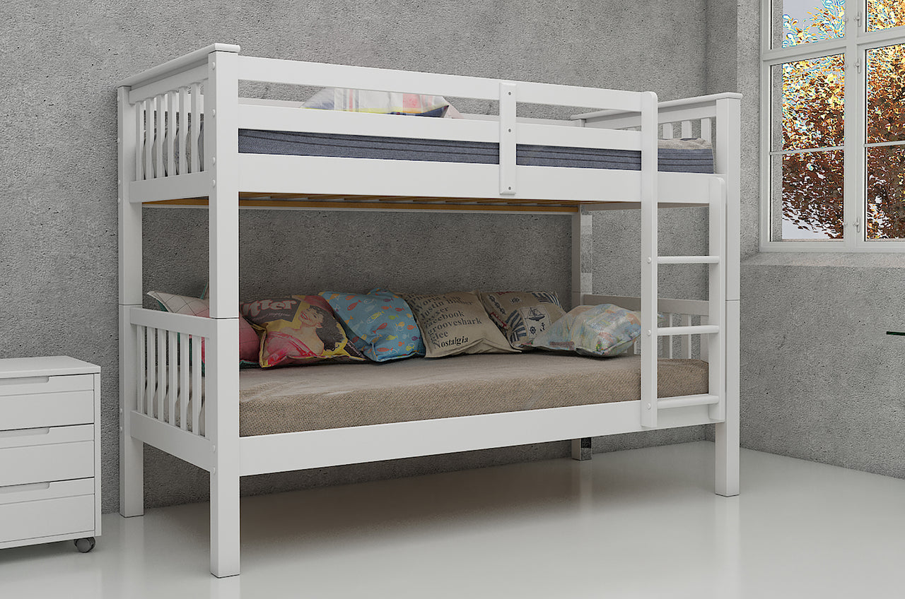 Magnus Bunk Bed - 3' Bed White