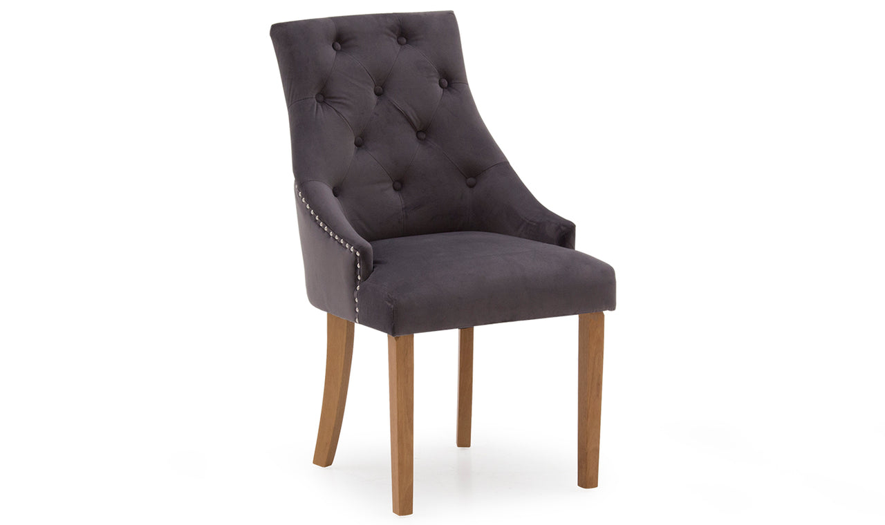 Hobbs Dining Chair - Velvet Misty (2/Box)