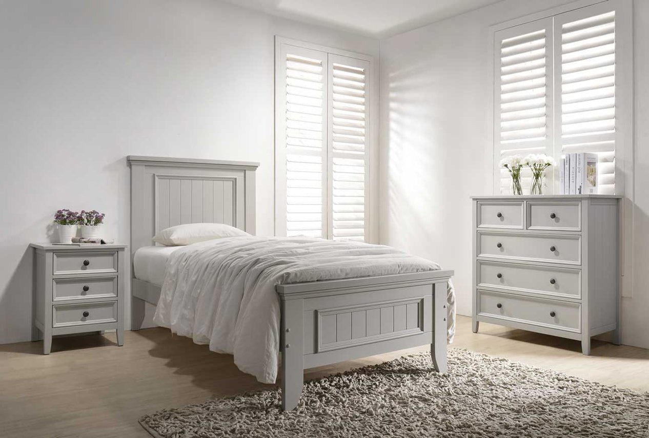 Mila Panelled Bed 3' Bed - Clay