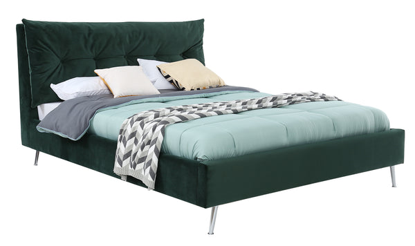 "Avery Bed - 4'6 Bed"" Green"
