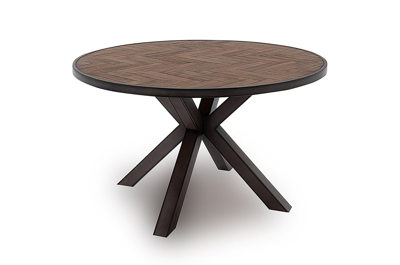 Vanya Round Dining Table - Light Brown 1300