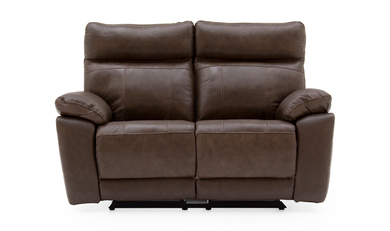 Positano 2 Seater Recliner - Brown