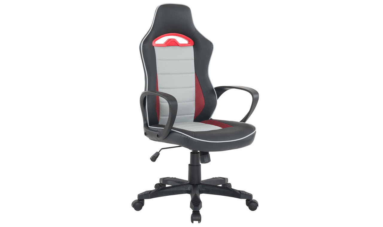 Axel Gaming Office Chair - Black White Red