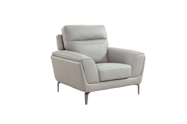 Vitalia 1 Seater Fixed - Light Grey