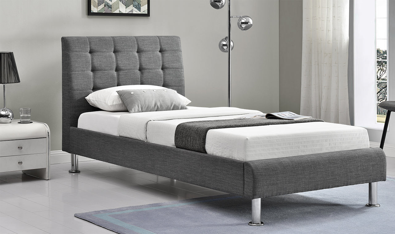 Lyra Fabric Bedstead - Charcoal