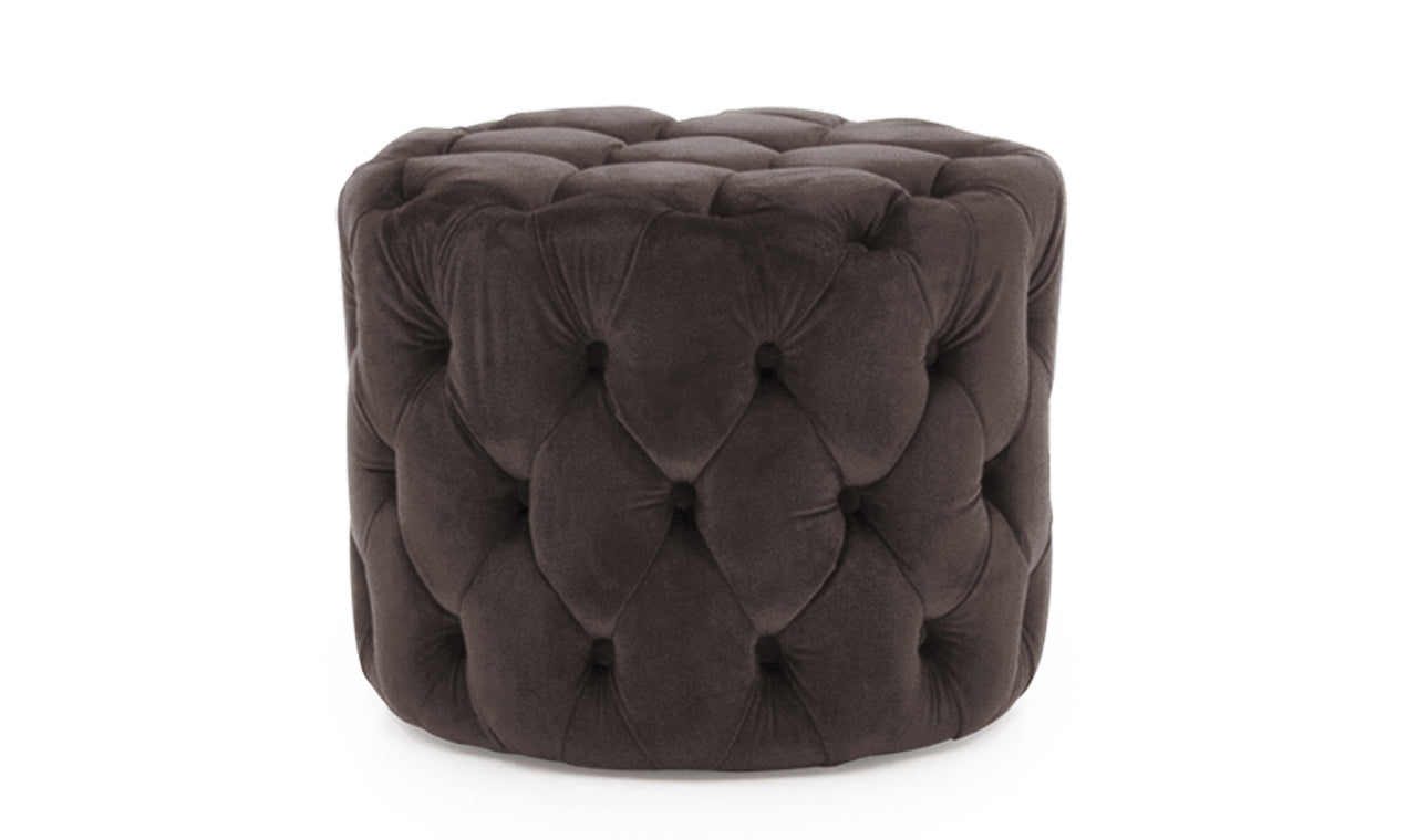 Perkins Footstool - Velvet Misty
