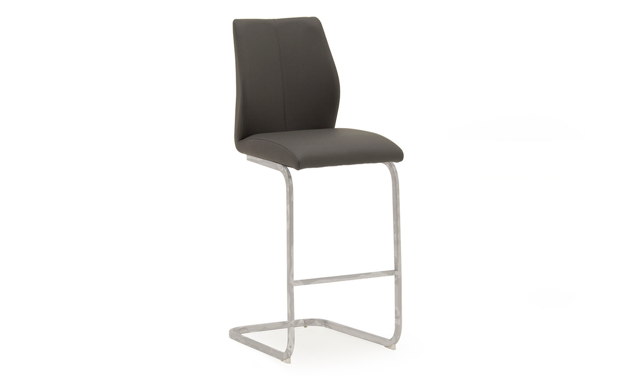 Elis Bar Chair - Chrome Leg Grey (2/Box)