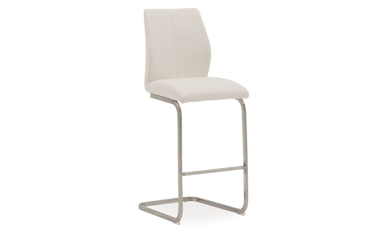 Irma Bar Chair - Brushed Steel White (2/Box)