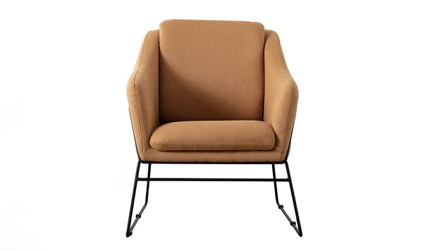Karl Accent Chair - Woven Mustard