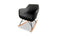 Katell Rocking Chair - Charcoal