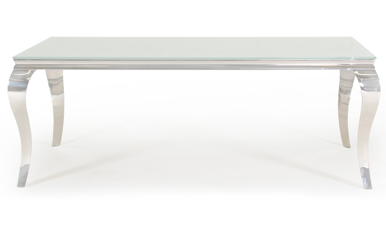 Louis Dining Table - White 2000mm