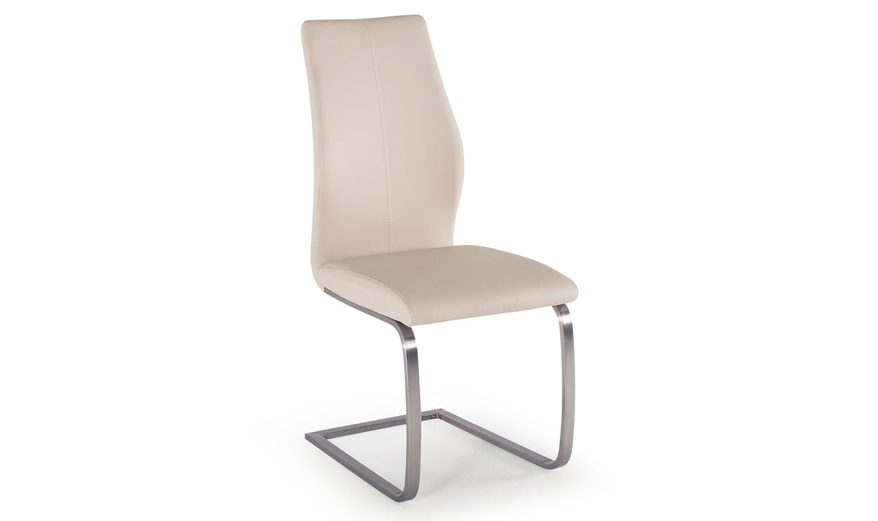 Irma Dining Chair - Brushed Steel Taupe (2/Box)