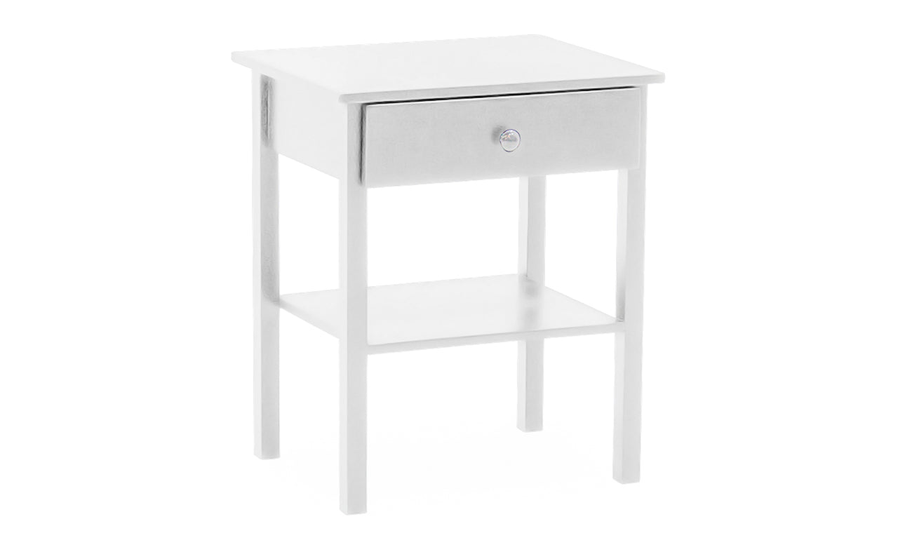 Willow Table, Bedside Table - White