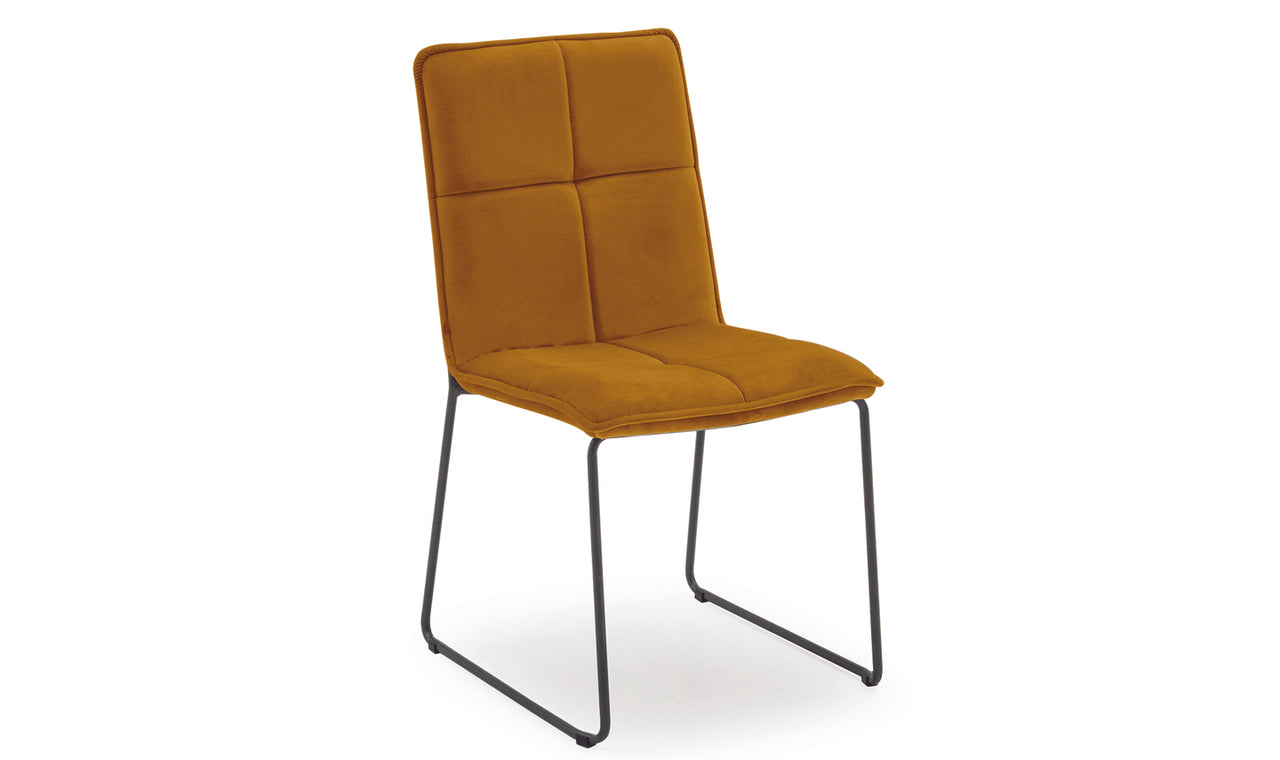 Soren Dining Chair - Mustard (4/Box)