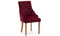 Hobbs Dining Chair - Velvet Crimson (2/Box)