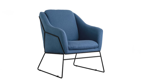 Karl Accent Chair - Woven Blue