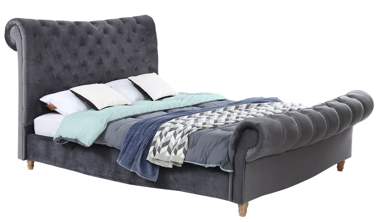"Sloane Bed - 4'6 Bed"" Grey"