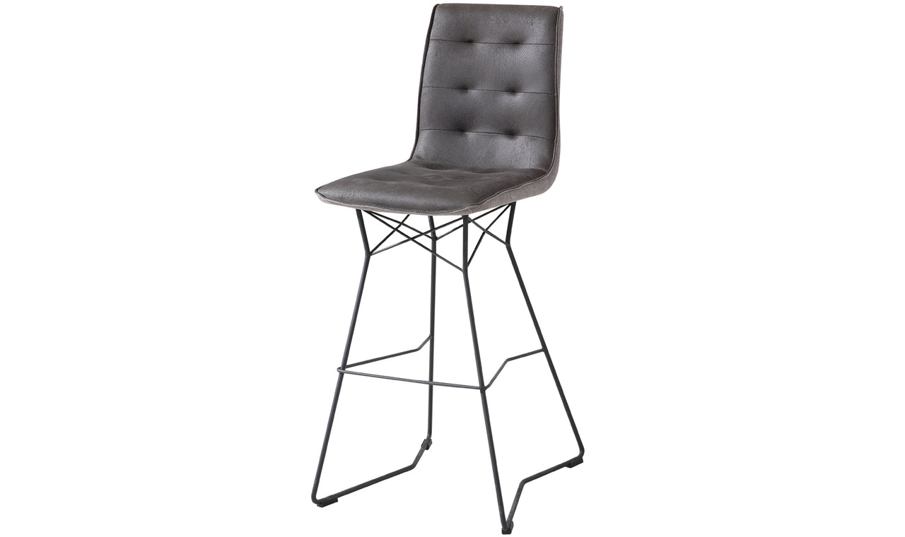 Mirko Bar Chair - Grey (Sold 2 per Box)