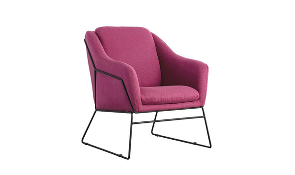Karl Accent Chair - Woven Berry