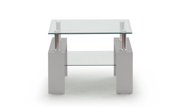 Calico Lamp Table - Grey