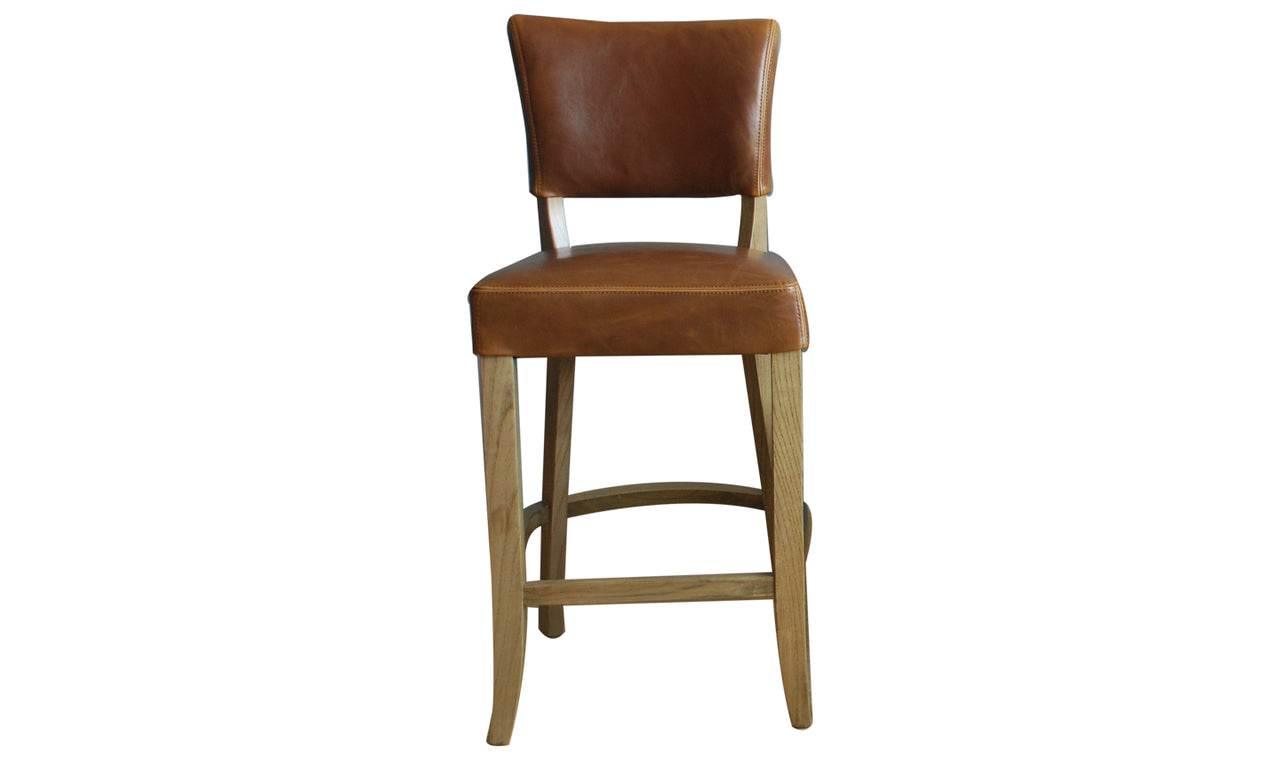 Duke Bar Chair Leather - Tan Brown